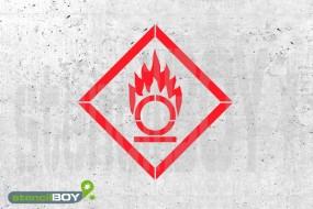 """GHS 03 """"Flamme über einem Kreis"""" Kunststoffschablone"""