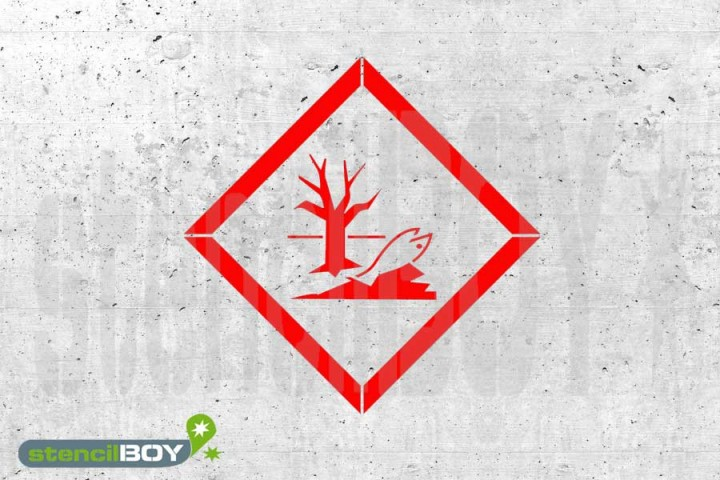 """GHS 09 """"Umweltgefahr"""" Kunststoffschablone"""