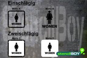Women/Damen WC - Schablonen