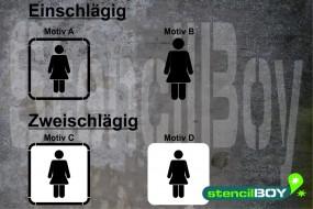 Women/Damen WC - Schablonen Version 2