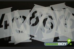 750mm Single Number stencils - Interlocking Stencils according to DIN 1451