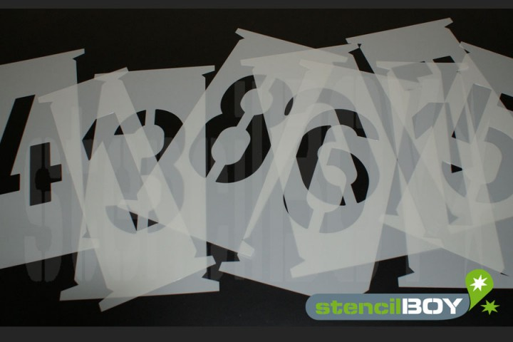 350mm Single Number stencils - Interlocking Stencils according to DIN 1451